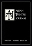 Asian Theatre Journal (c) Univ. of Hawai'i Press 2011