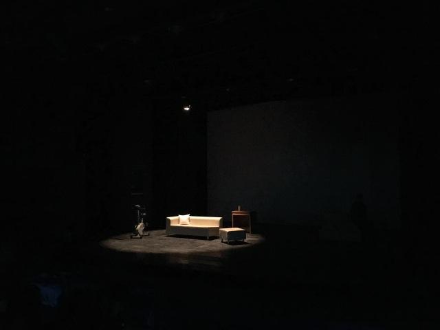 Auf die Bretter - Corpus Delicti, empty stage rehearsal